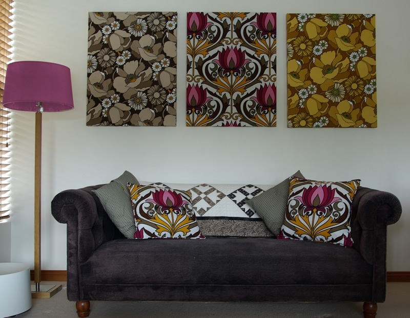 Featured Image of Vintage Fabric Wall Art