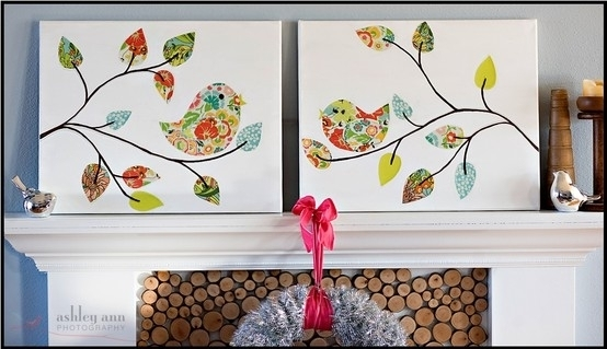 Wall Art Decor Ideas: Inexpensive Artwork Diy Fabric Wall Art Easy Pertaining To Inexpensive Fabric Wall Art (Image 13 of 15)