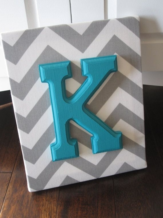 Wall Art Decor Ideas: Local Fabric Wall Art Letter Around Paper Throughout Fabric Wall Art Letters (Image 14 of 15)