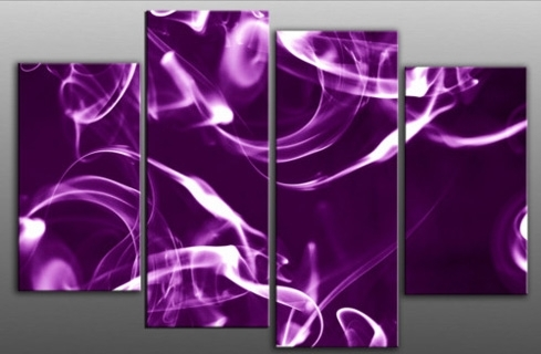 Wall Art Decor Ideas: Product Manufactured Purple Abstract Wall In Purple And Grey Abstract Wall Art (Image 13 of 15)
