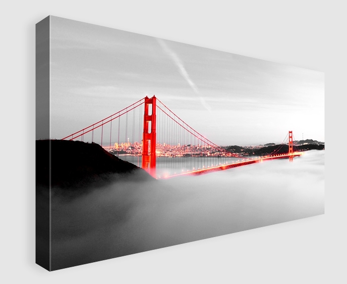 Wall Art Decor: London Wooden Golden Gate Bridge Wall Art Canvas Throughout Golden Gate Bridge Canvas Wall Art (Image 15 of 15)