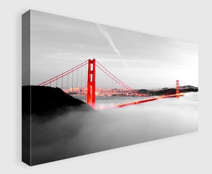 Wall Art Decor: London Wooden Golden Gate Bridge Wall Art Canvas Throughout Golden Gate Bridge Canvas Wall Art (View 6 of 15)