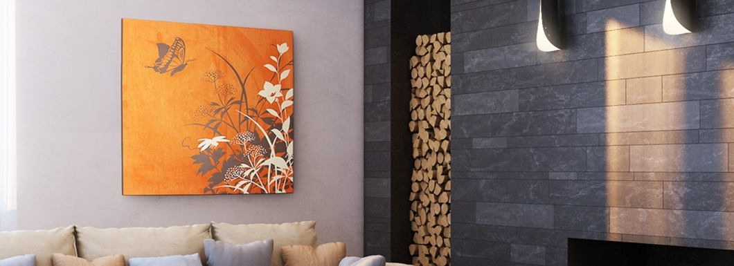 Wall Art Decor: Orange Color Textured Wall Art Really Cool Throughout Textured Fabric Wall Art (View 5 of 15)