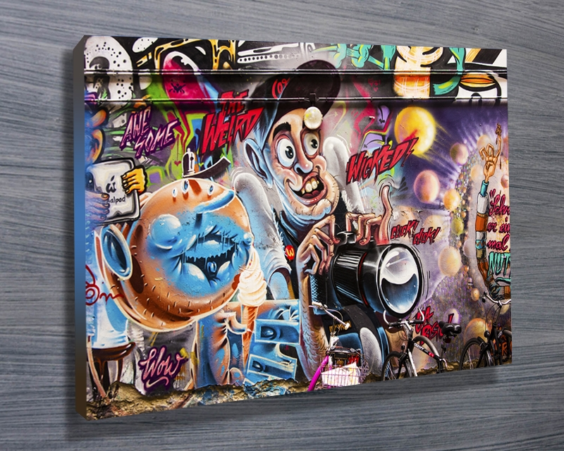 Wall Art Decor: Sample Graffiti Canvas Wall Art Great Times Nice Within Graffiti Canvas Wall Art (Image 13 of 15)