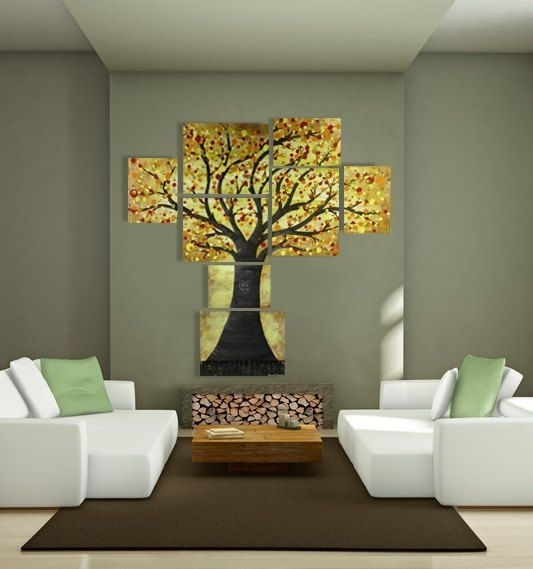 Wall Art Decor: Yellow Abstract Art For Large Walls Extra Multiple Inside Large Modern Fabric Wall Art (Image 11 of 15)