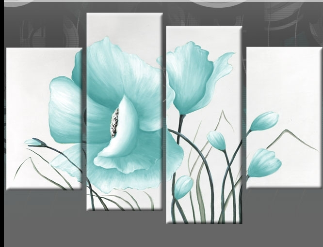 Wall Art Design: Blue Canvas Wall Art Beautiful Design Art With Blue And Brown Canvas Wall Art (Image 14 of 15)