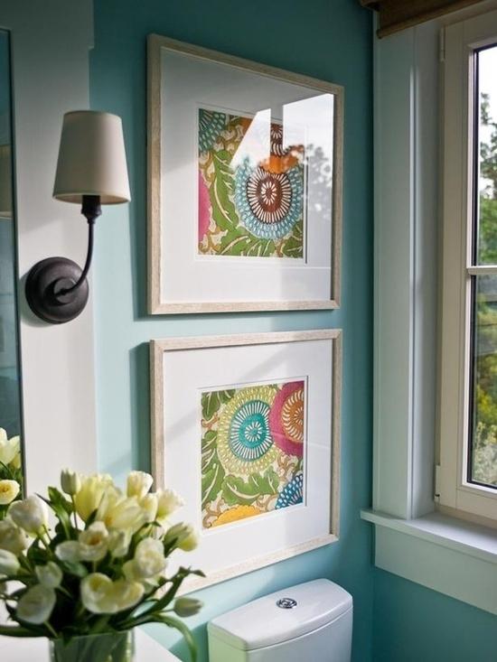 Wall Art Design: Diy Framed Fabric Wall Art, Framing Fabric As Art Regarding Fabric Square Wall Art (Image 12 of 15)