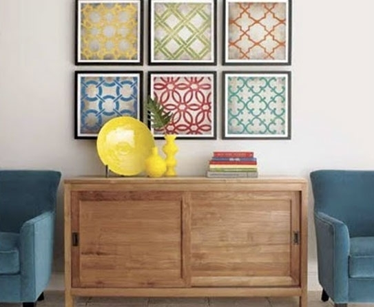 Wall Art Design: Diy Framed Fabric Wall Art, Framing Fabric As Art With Fabric Square Wall Art (Image 13 of 15)