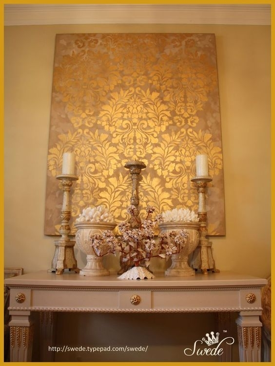 Wall Art Design: Elegant Wall Art With Amazing Design Collection Intended For Damask Fabric Wall Art (View 2 of 15)