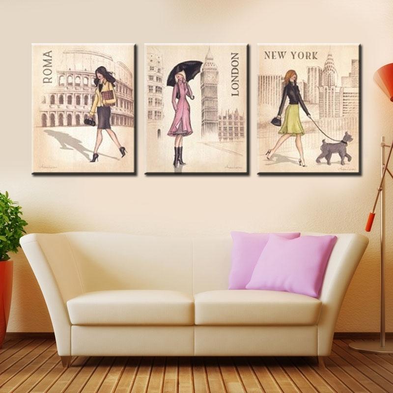 Wall Art Design: Fashion Canvas Wall Art Funky Design Collection With Regard To Canvas Wall Art Of Rome (Image 15 of 15)