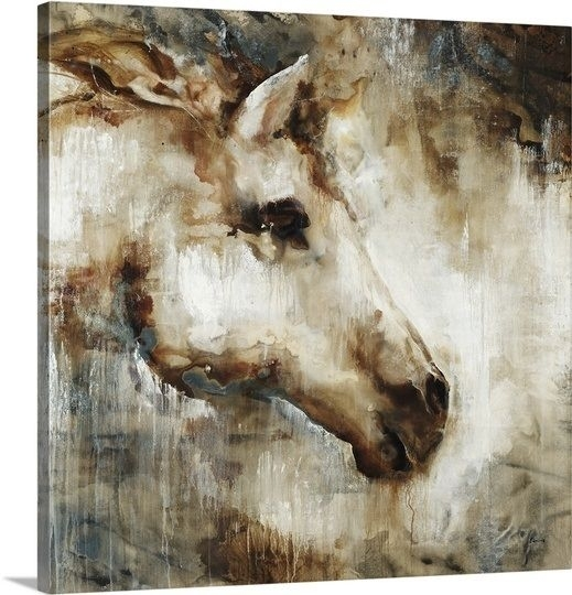 Wall Art Design: Horse Canvas Wall Art Square Brown Horse Head Pertaining To Horses Canvas Wall Art (Image 14 of 15)