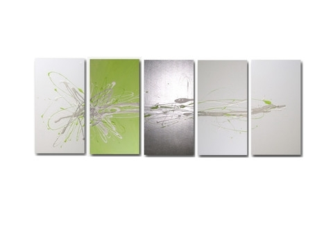 Wall Art Design Ideas: Abstract Lime Green Wall Art Sample Nice Throughout Lime Green Canvas Wall Art (Image 12 of 15)