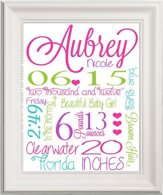 Wall Art Design Ideas: Best Personalized Baby Name Wall Art Inside Personalized Nursery Canvas Wall Art (View 2 of 15)