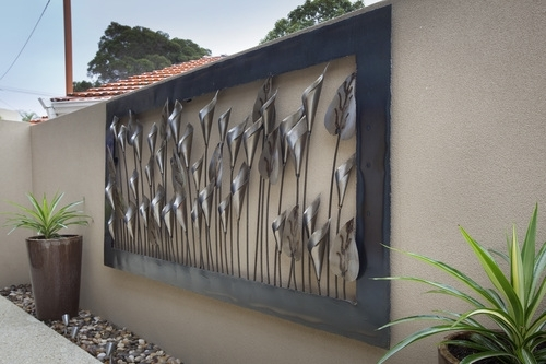 Wall Art Design Ideas: Black Steel Outdoor Wall Art Ideas Stained In Abstract Garden Wall Art (View 12 of 15)