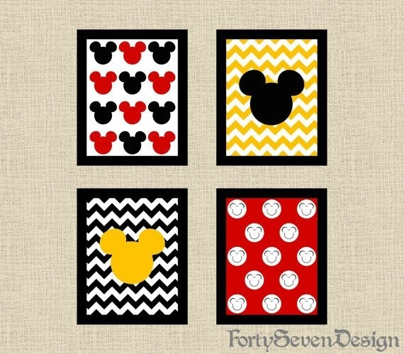 Wall Art Design Ideas: Canvas House Mickey Mouse Wall Art With Regard To Mickey Mouse Canvas Wall Art (View 3 of 15)