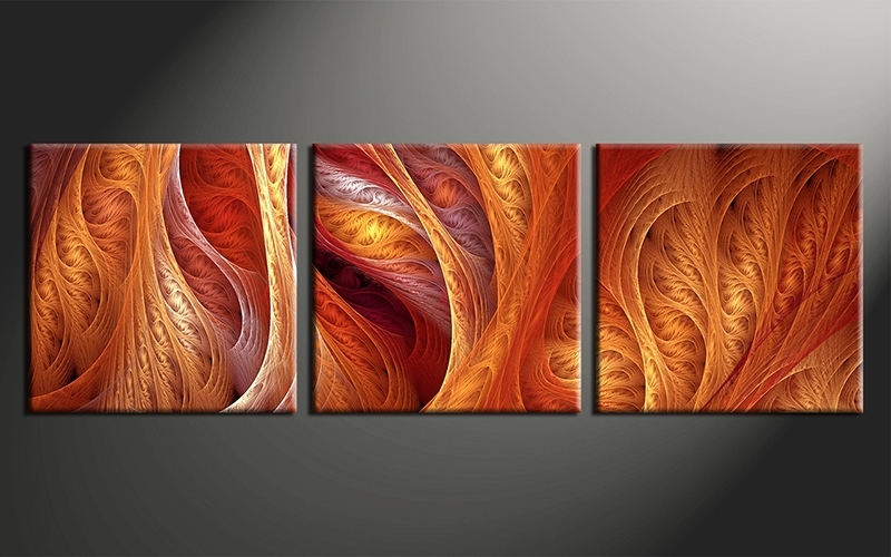 Wall Art Design Ideas: Classic Sample Orange Wall Art Nice Pieces In Orange Canvas Wall Art (Image 10 of 15)