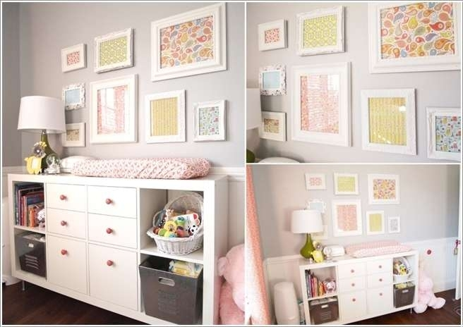 Wall Art Design Ideas: Colourful Decorative Framed Nursery Wall In Fabric Wall Art For Nursery (Image 13 of 15)