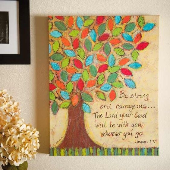 Wall Art Design Ideas: Courageous Painting Christian Wall Art In Religious Canvas Wall Art (View 9 of 15)
