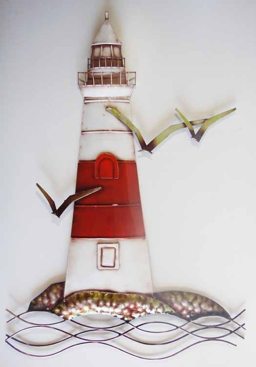 Wall Art Design Ideas: Decor Multi Lighthouse Metal Wall Art With Abstract Nautical Wall Art (View 4 of 15)