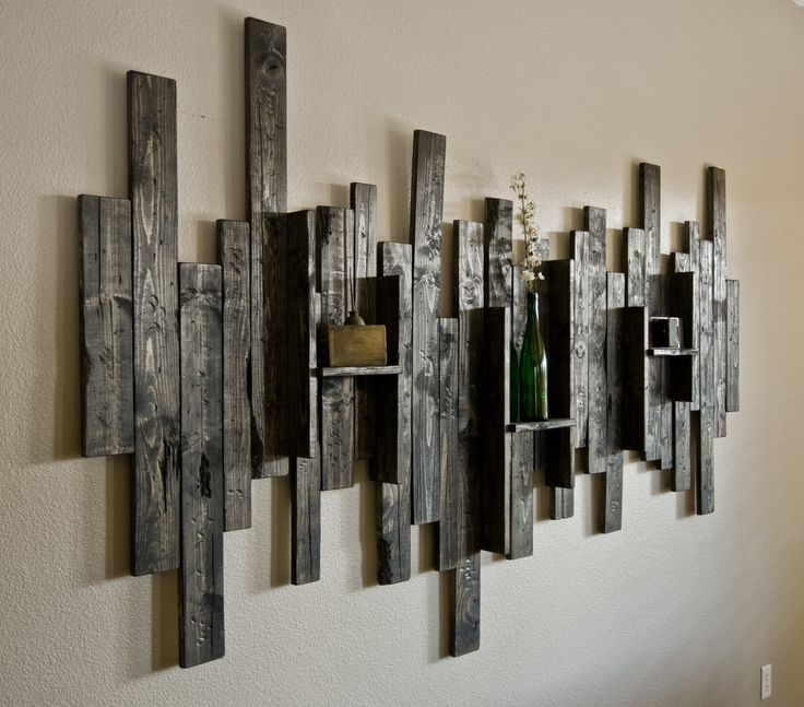 Wall Art Design Ideas: Display Shelf Rustic Wall Art Ideas Wall Pertaining To Rustic Canvas Wall Art (Image 12 of 15)