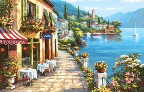Wall Art Design Ideas: Italian Villages Wall Art Of Italy Canvas Within Italy Canvas Wall Art (Image 13 of 15)