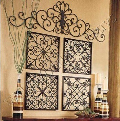 Wall Art Design Ideas : Large Wrought Iron Wall Art – Great Large Within Iron Fabric Wall Art (View 7 of 15)