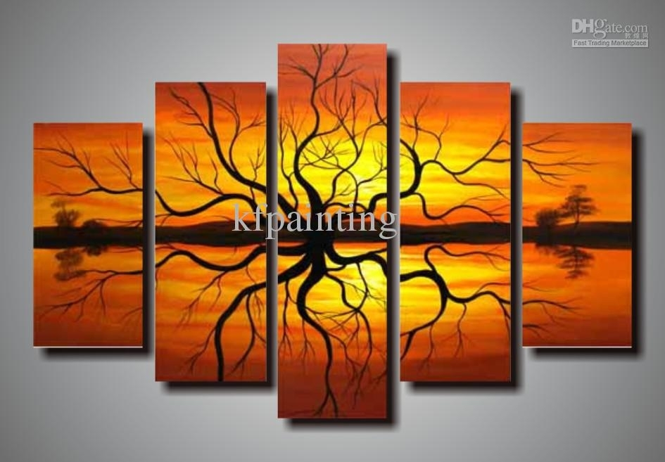 Wall Art Design Ideas: Nice Premium Hand Painted Wall Art Canvas Intended For Hand Painted Canvas Wall Art (View 6 of 15)