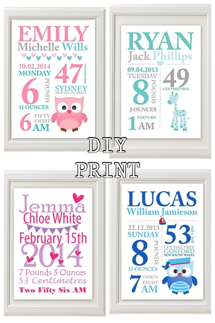 Wall Art Design Ideas: Nursery Formidable Personalized Baby Wall Regarding Custom Nursery Canvas Wall Art (View 1 of 15)