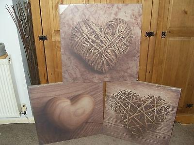 Wall Art Design Ideas: Rectangular Canvas Wicker Wall Art Amazing Regarding Hearts Canvas Wall Art (View 12 of 15)