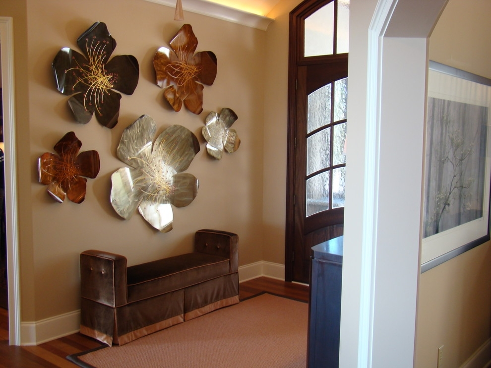 Wall Art Design Ideas: Sculptures Neutral Colors Large Metal With Entryway Wall Accents (View 15 of 15)