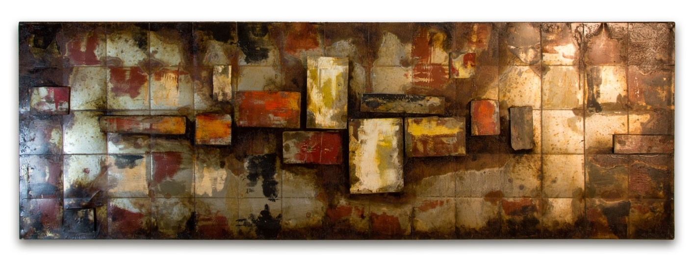 Wall Art Design Ideas: Sensational Abstract Big Metal Wall Art Inside Abstract Metal Wall Art Panels (View 4 of 15)
