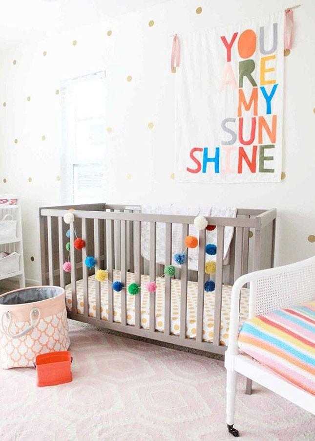 Wall Art Design: Nursery Wall Art Ideas Square White Orange Red In Baby Nursery Fabric Wall Art (View 4 of 15)
