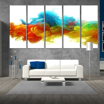 Wall Art Design: Oversized Abstract Wall Art Rectangle White Regarding Abstract Oversized Canvas Wall Art (View 7 of 15)