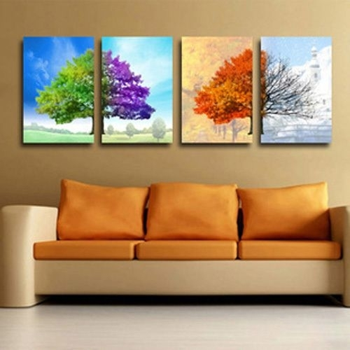 Wall Art Designs: Abstract Canvas Wall Art 4 Pieces Huge Canvas No For Modern Abstract Huge Oil Painting Wall Art (Image 13 of 15)