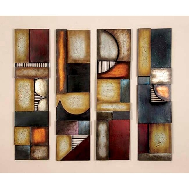 Wall Art Designs: Abstract Metal Wall Art Geometric Multicolor Pertaining To Geometric Modern Metal Abstract Wall Art (View 3 of 15)