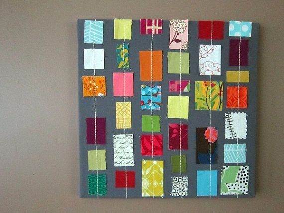 Wall Art Designs: Amazing Stretched Fabric Wall Art Simple Easy Pertaining To Fabric Square Wall Art (Image 14 of 15)