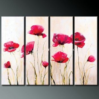 Wall Art Designs: Art Wall Decor Poppy Blossom Iv Modern Canvas Inside Poppies Canvas Wall Art (View 10 of 15)