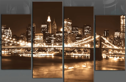 Wall Art Designs: Awesome Example Of Nyc Canvas Wall Art Bridge For Canvas Wall Art Of New York City (Image 12 of 15)