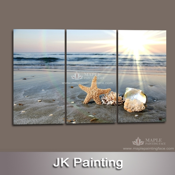 Wall Art Designs: Beach Canvas Wall Art 3 Panels Contemporary With Regard To Beach Themed Canvas Wall Art (Image 11 of 15)