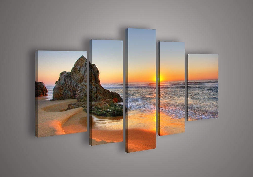 Wall Art Designs: Beach Canvas Wall Art Contemporary Wall Art And Regarding Beach Canvas Wall Art (Image 14 of 15)