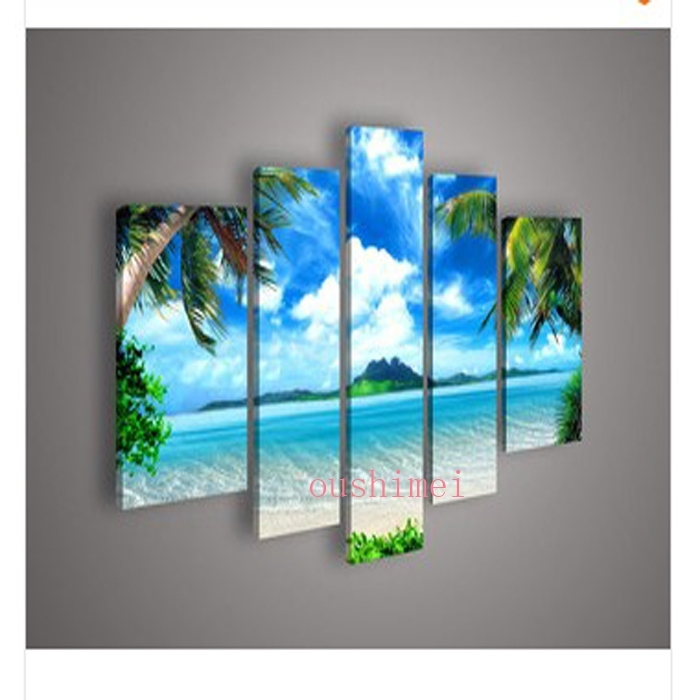 Wall Art Designs: Beach Canvas Wall Art Majestic View Beach Canvas Pertaining To Ocean Canvas Wall Art (Image 14 of 15)