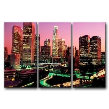 Wall Art Designs: Best 10 Amazing Wall Art Los Angeles Destination Throughout Los Angeles Canvas Wall Art (Image 15 of 15)