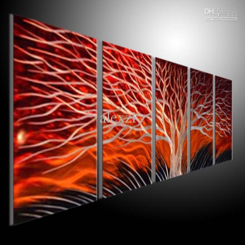Wall Art Designs: Best Abstract Metal Wall Art Kohl's Home Decor Intended For Abstract Metal Wall Art Painting (Image 15 of 15)