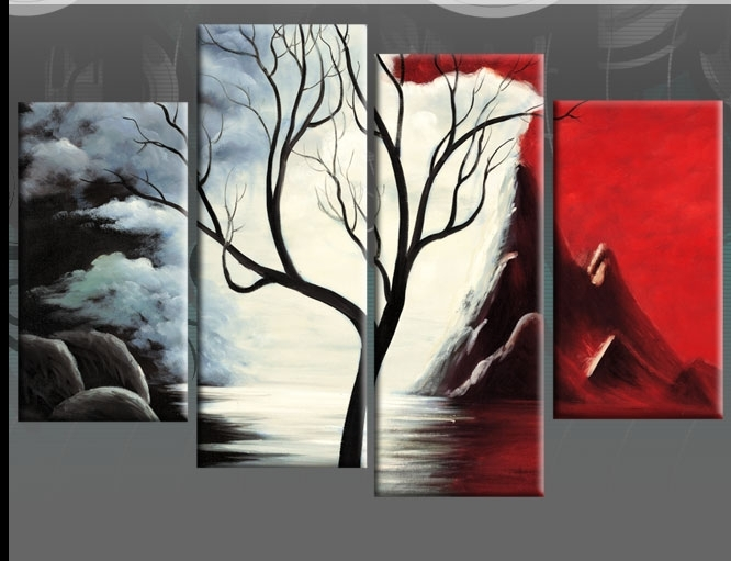 Wall Art Designs: Black And White Canvas Wall Art Begining Tree With Abstract Nature Canvas Wall Art (View 5 of 15)