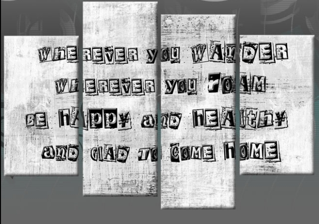Wall Art Designs: Canvas Wall Art Quotes Family Quote 4 Panel Inside Canvas Wall Art Family Quotes (View 13 of 15)