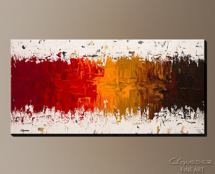 Wall Art Designs: Cheap Canvas Wall Art Luminescence Abstract Art With Orange Canvas Wall Art (View 10 of 15)