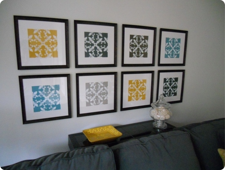 Wall Art Designs: Cheap Framed Wall Art Gallery Wall Made From Pertaining To Affordable Framed Art Prints (View 6 of 15)