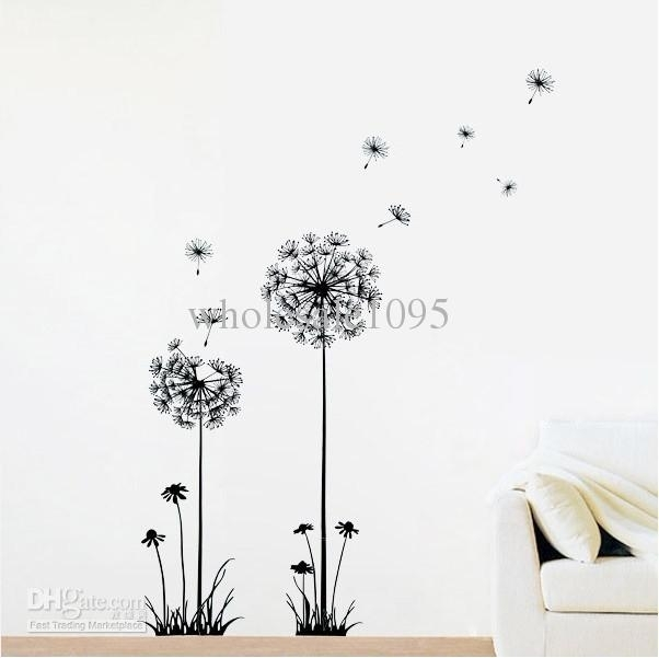 Wall Art Designs: Dandelion Wall Art Removable Dandelion Flower In Flowers Wall Accents (Image 15 of 15)