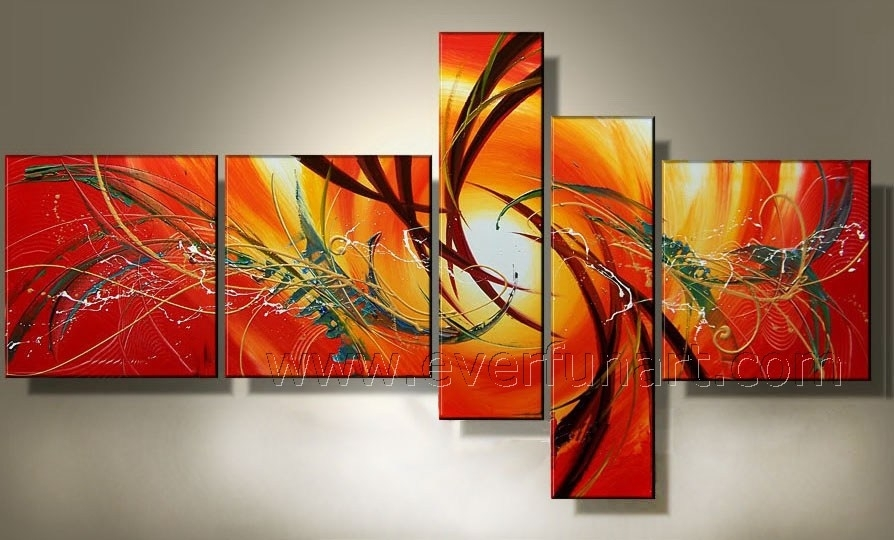 Wall Art Designs: Discount Wall Art Handmade Stretched Canvas Wall In Abstract Oil Painting Wall Art (Image 14 of 15)