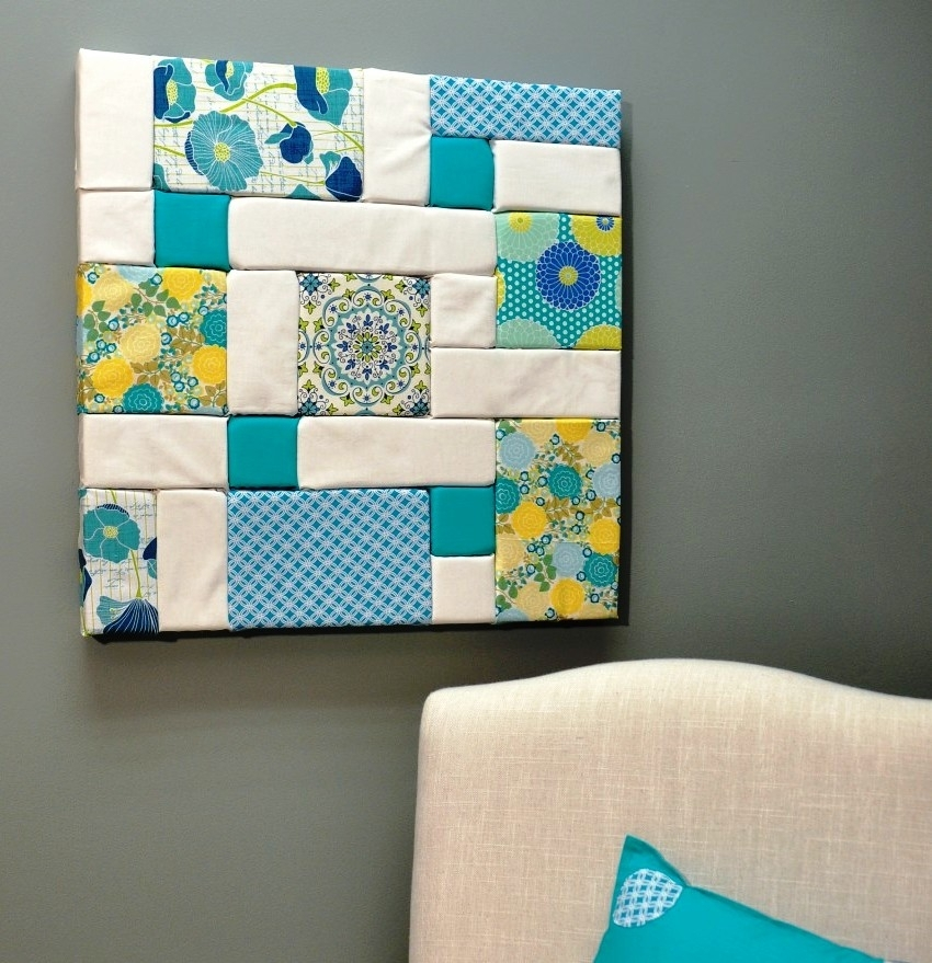 Wall Art Designs: Fabric Wall Art Diy Foam Craft Projects Ideas In Diy Fabric Wall Art (Image 15 of 15)